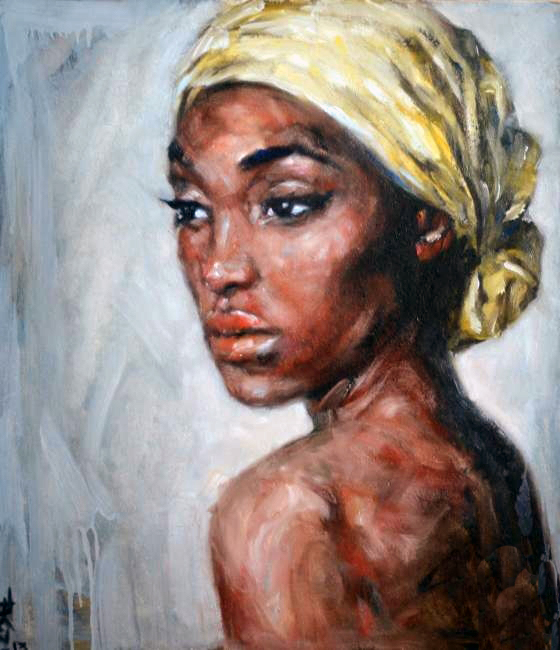 Portrait black woman